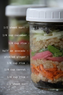 Jar Lunch.- Sushi